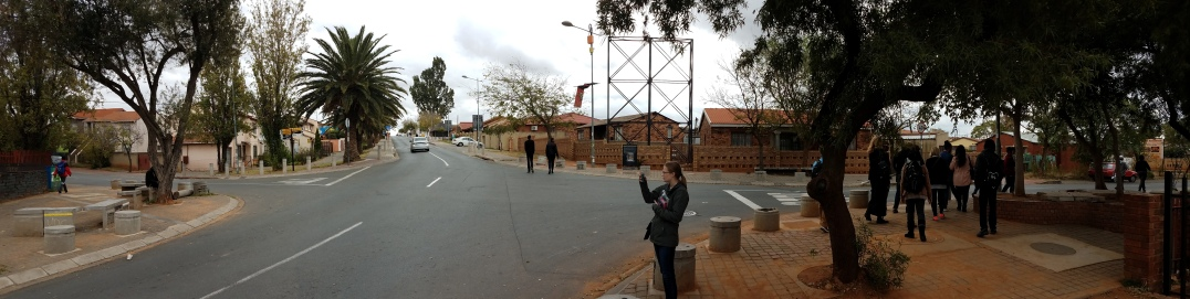 Turning onto the street where Pieterson was shot and killed.