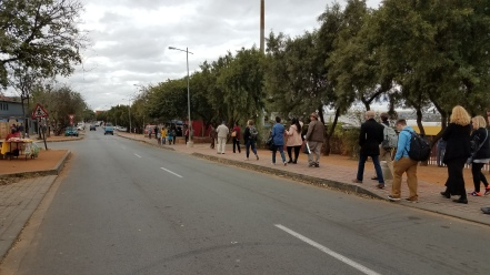 Walking down the street where Pieterson was killed.