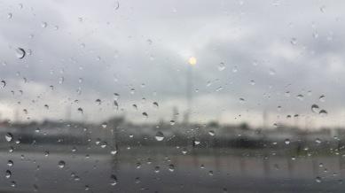Rain in Cape Town.